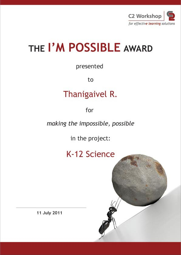 C2 Workshop_I'mpossible Award